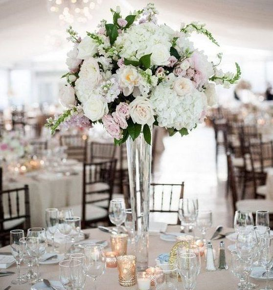 Tall Trumpet Vase With Images Flower Centerpieces Wedding