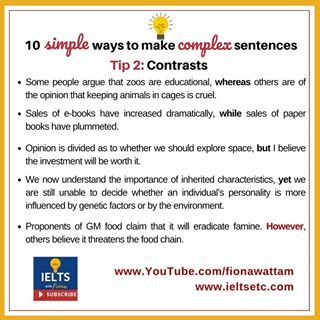 Writing Task 1 Ielts Writing Complex Sentences English Writing Skills