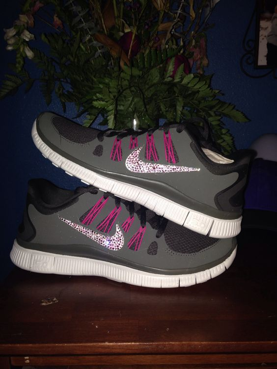 Nike free run with crystals, just made them myself!!
