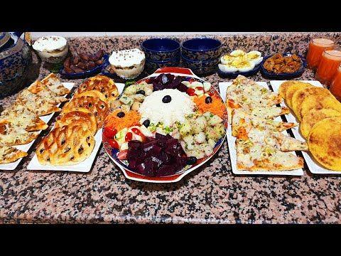 مائدة رمضانية واحد الحشوة كندير فسلطة الروز متشبعوش منها تحلية ببقايا الكيك بيتزا نوعي وبلا مجهود Youtube Food Chicken Meat
