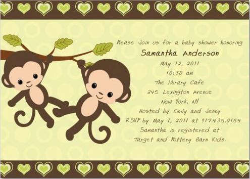 Twin monkeys baby shower invitations ideas de baby shower twin monkeys baby shower invitations ideas de baby shower pinterest monkey invitations monkey and shower invitations filmwisefo