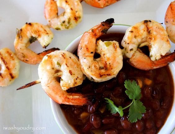 Grilled Lemon and Cilantro Shrimp Skewers from @Shawn Syphus