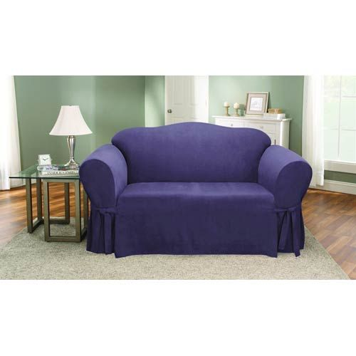 Sure Fit Plum Soft Suede Loveseat Slipcover 47293381119 In 2020 Loveseat Slipcovers Slipcovers Home Accessories