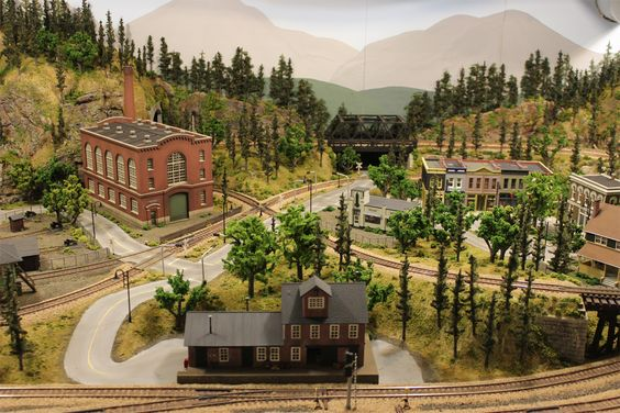 Scenery, Layout and Model train on Pinterest