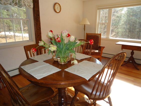 This is MY dining room on a sunny Feb. early afternoon