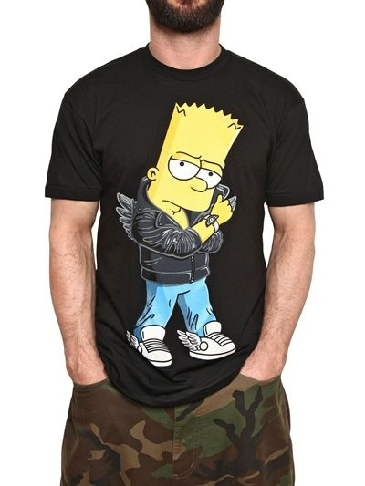 Guys l 39 wren scott and bart simpson on pinterest for Crazy t shirt designs