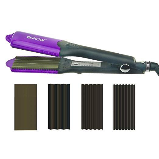 Dshow 4 In 1 Hair Crimper Hair Waver Hair Straightener Curling Iron With 4 Interchangeable Ceramic Flat Crimping Iron Hair Waver Hair Crimper Hair Straightener