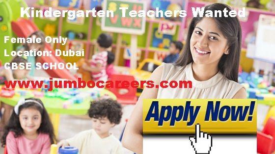 Urgent Kindergarten Teachers Vacancy For Dubai Cbse School Uae