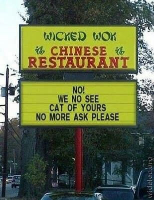 Aw! The poor restraunt: