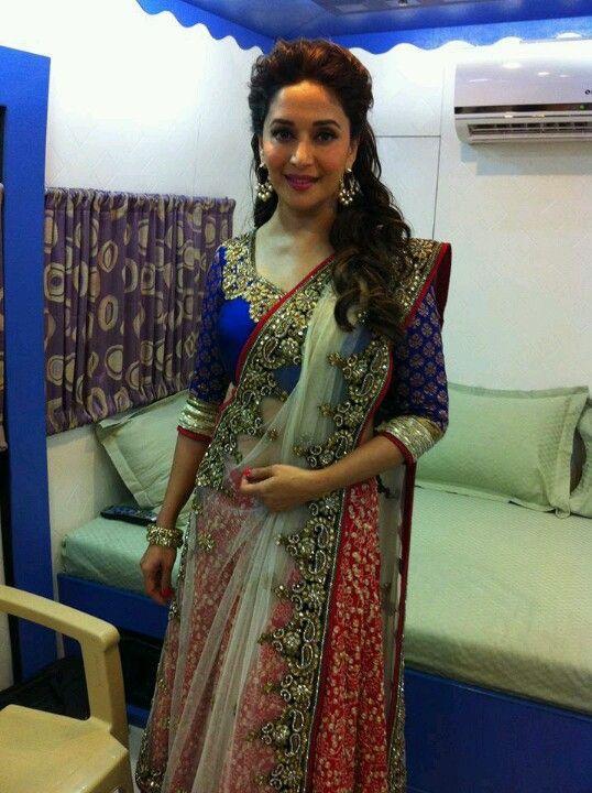 Pin By Nina B On Indian Attire Madhuri Dixit Indian Wedding Bride Desi Dress