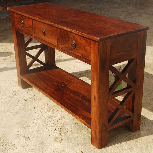 Cedar Round Log Dining Table Real Wood And 50 Similar Items: Solid Wood Oklahoma Farmhouse Console Table W 3 Storage