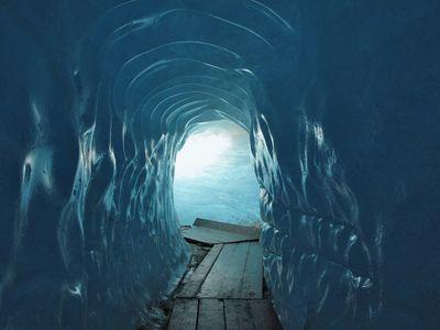 ice cave: oberwald: switzerland