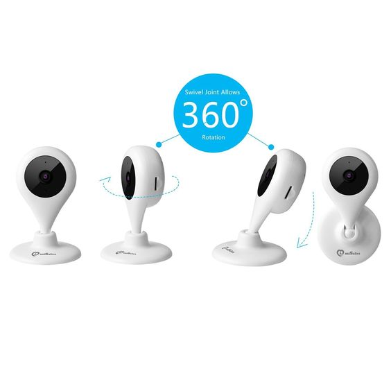 Wireless Smart Camera, Misafes 360 Cam Wi-Fi Camera Baby Pets Monitor Security Remote Home IP Camera 2-Way Video with 720p HD, 120° View for iPhone iPad Samsung HTC LG Sony Christmas Gifts (White)
