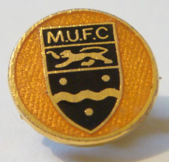 Maidstone United Football Club Crest Badge, enamel Gilt 15mm x 15mm