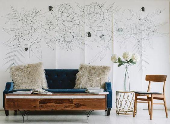 Blooming Garland Mural: Anewall.com