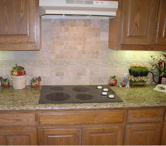 Granite Kitchen Countertops With Backsplash: Backsplash Ideas For Giallo Ornamental