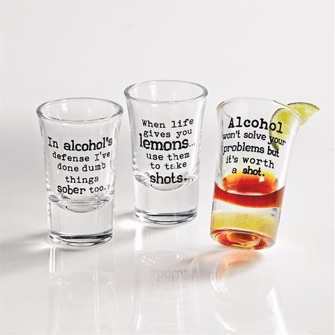 Drinking Shot Glasses Set Of 3 Shot Glasses Funny Shot