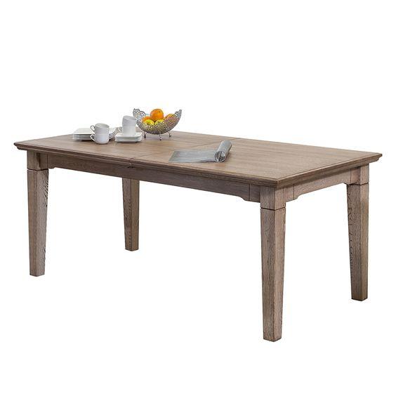 Eettafel (met middenstuk) - massief eikenhout