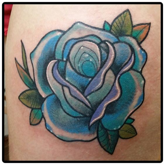 Love the shape of the rose and the leaves