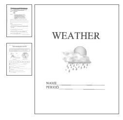 Printables Weather Worksheets Middle School weather unit packetwork middle school and labs this packet contains projects worksheets for a unit