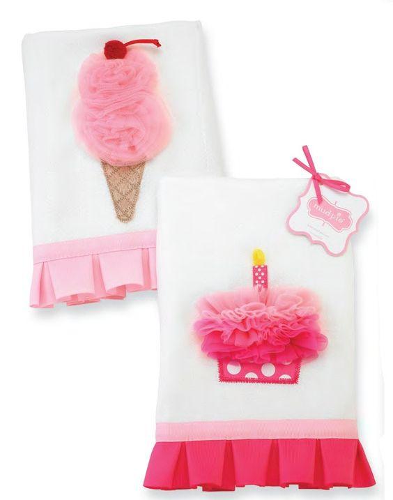 Party Time Cupcake Burp Cloth by Mud Pie