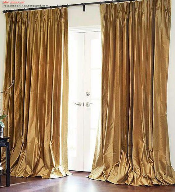 Cortinas de seda para sala cortinas pinterest for Cortinas de visillo para sala