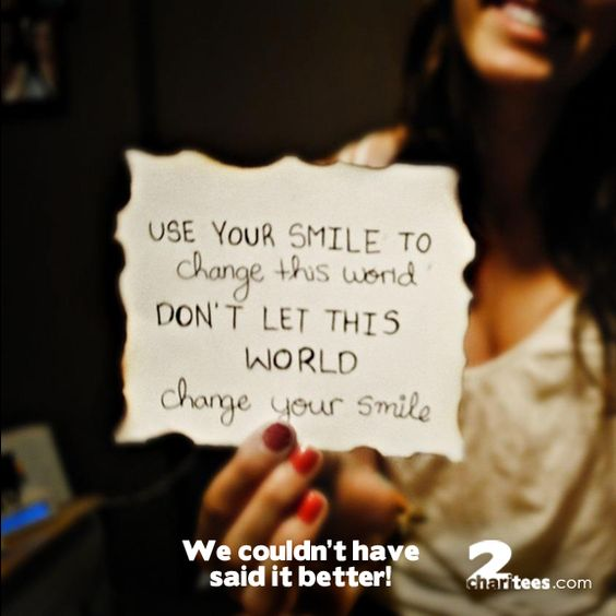 Smile power...