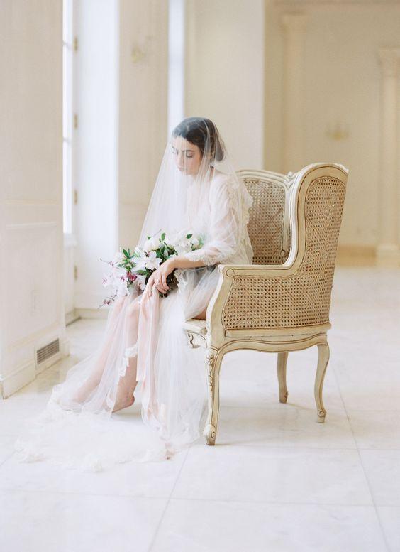 Pre-Wedding Bridal Sessions: Why We Love Them | Wedding Sparrow | Chateau Cocomar | All Things Lovely Paper Co. | Morgan Gosch | Wedding Inspiration, Texas, Film, Fine Art, Wedding Invitation, Cherry Blossom, Spring Wedding