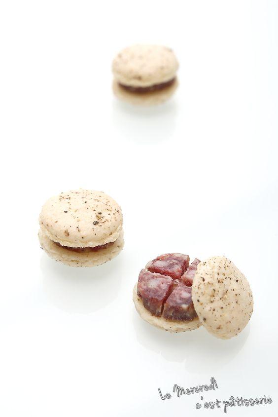 Macarons au saucisson