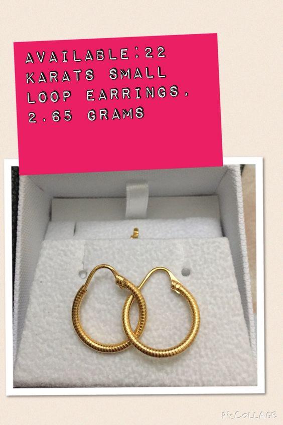 22 karats, loop earrings