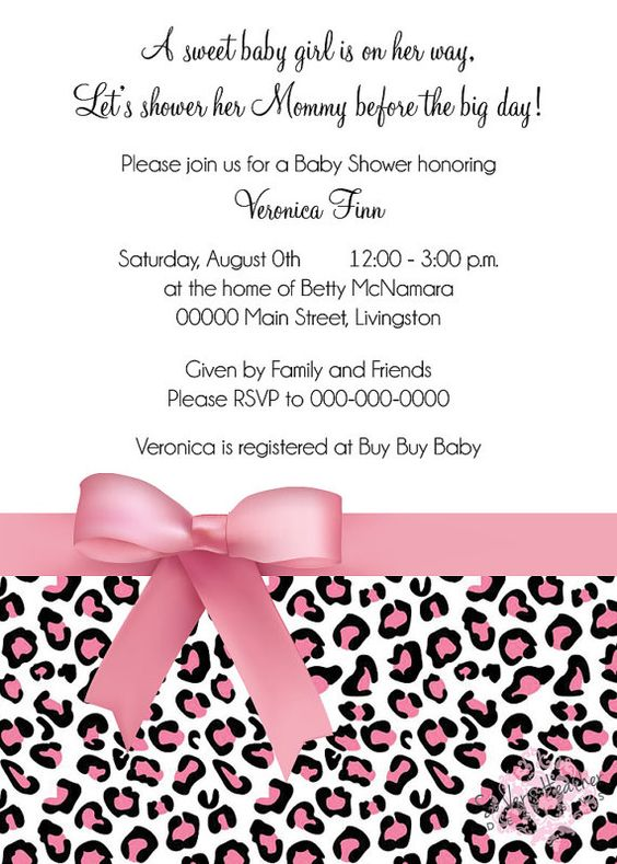 Pink Cheetah Baby Shower Invitation  by SoVeryHeatherDesigns