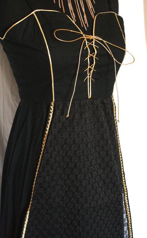 Vintage 1970s Candi Jones California black by VarietyVintagebyALD, $105.50