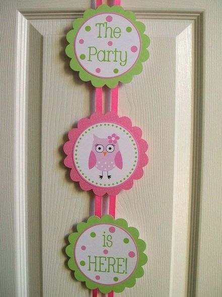 idea for a party: 1St Birthday Parties, Birthday Owl, Owl Theme, Banner Idea, Owl Party Decoration, Owl Decoration, Banner Owl, Birthday Ideas