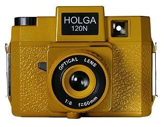 Holga 120N Medium Format Plastic Camera Holgawood Collection - Sunset Blvd. (Mustard Yellow)
