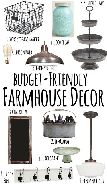 Farmhouse Style Decor Finds, Budget Friendly!