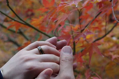 Anna and Chun and their Touch Wood engagement ring.
