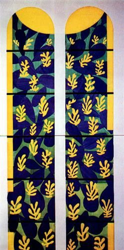 Henri Matisse - Tree of Life' Stained Glass behind the Altar in the Chapel of the Rosary at Vence, 1951 Style: Abstract Expressionism In 1951 Matisse finished a four-year project of designing the interior, the glass windows and the decorations of the Matisse Chapel.