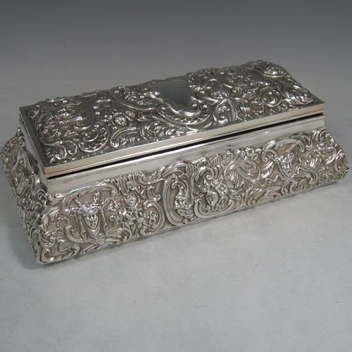 antique+sterling+silver+boxes   Jewellery boxes in Antique Sterling Silver Bryan Douglas Antique ...