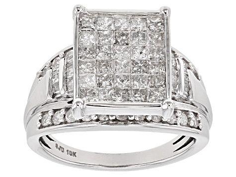 White Diamond 10k White Gold Ring 1 65ctw Sbg358w White Gold Rings Gold Rings Jewelry
