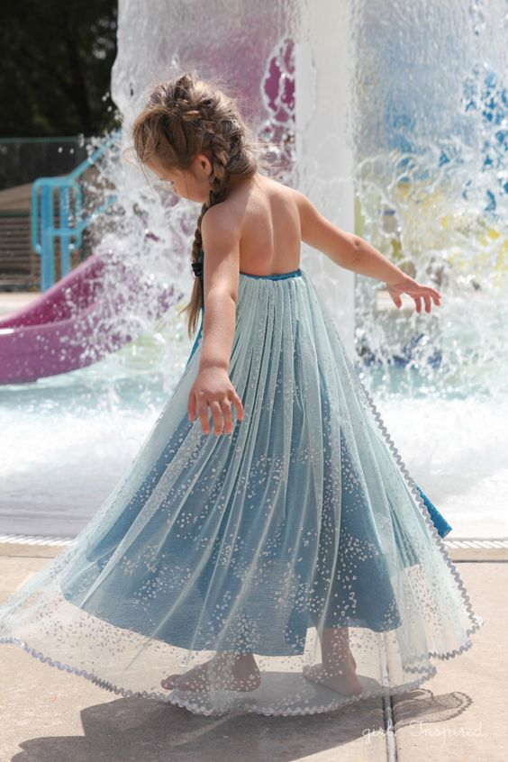 Elsa Dress Sewing Tutorial - this is a quick and easy sew!: