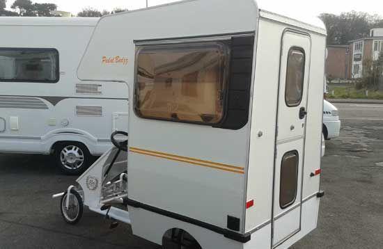 The Cramper Van Part Of A Camper Van Attached To An Old Pedal Cart Van Recreational Vehicles Camper