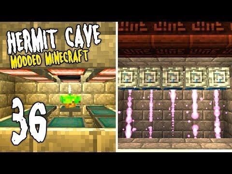 Hermit Cave 36 The Super Machines Modded Minecraft Minecraft Mods Minecraft Hermit