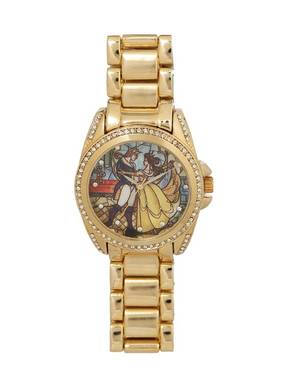 Disney Beauty And The Beast Stained Glass Watch,
