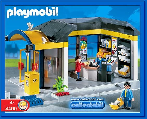 Playmobil set 4400 post office playmobil lego for Playmobil post