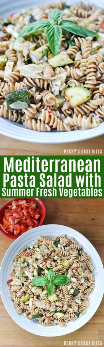 mediterranean pasta salads fresh vegetables healthy side dishes pasta ...
