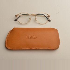 funda de gafas piel simple