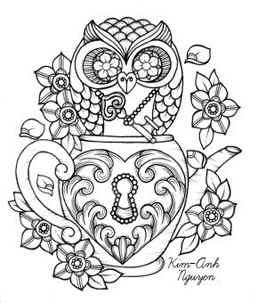 click only once to enlarge, but DO NOT click again, as it does not go to original pin.... key to my heart teapot with ornate owl