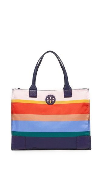 TORY BURCH Ella Printed Packable Tote. #toryburch #bags #leather #hand bags #nylon #tote #