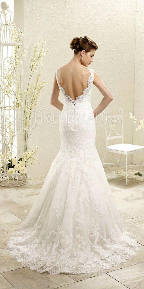 ... Rückenfrei Hochzeitskleider mit Spitze [#UD9147] - schoenebraut.com