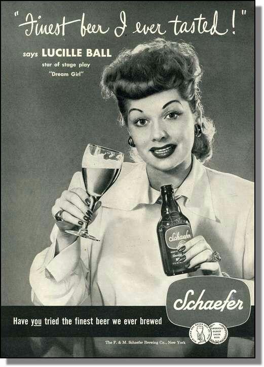Lucille Ball pitching Schaefer.